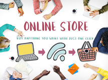 Online Shopping Web Shop E-shopping Concept. Online Shopping Web Shop E-shopping Stock Image