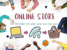 Online Shopping Web Shop E-shopping Concept. Online Shopping Web Shop E-shopping stock image