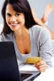 Online shopping woman Stock Photos