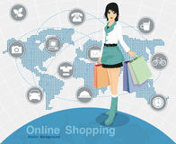 Online shopping Stock Photos