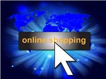 Online-shoppingbakgrund Arkivfoton