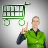 Online-shoppingbegrepp royaltyfri foto