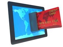 Online-shoppingbegreppse-kommers teknologi royaltyfri illustrationer