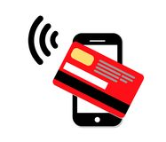 Online-shoppingillustratio Fotografering för Bildbyråer