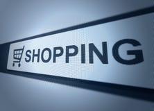 Online-shoppingknapp Royaltyfri Foto