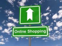 Online-shoppingtecken Arkivbild