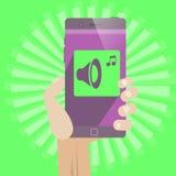 Online-shoppingtelefon Arkivbilder