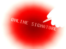 Online signature graphic Stock Photos