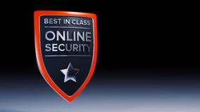 Online-skölddesign för säkerhet 3D Royaltyfri Foto