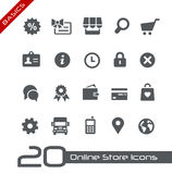 Online sklep ikon //podstawy Obrazy Stock