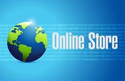 online sklepu kuli ziemskiej znaka binarny pojęcie royalty ilustracja