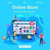 Online sklepu kwadrata sztandar z kopii przestrzenią royalty ilustracja