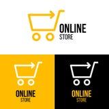 Online sklepu projekta logo Obraz Royalty Free
