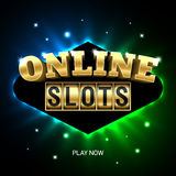 Online slots casino banner. Play now Royalty Free Stock Images
