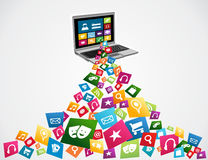 Online social media applications Royalty Free Stock Images