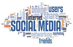 Online social media stock image