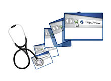Online solutions with a Stethoscope Royalty Free Stock Image
