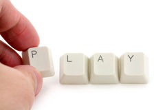 Online-Spiel Stockfotos
