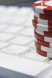 Online spielend Lizenzfreies Stockfoto