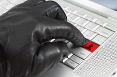 Online spy ware concept Royalty Free Stock Photography