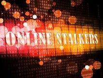 Online Stalker Evil Faceless Bully 3d Illustration stock illustration