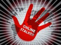 Online Stalker Evil Faceless Bully 2d Illustration vector illustration