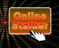 Online Stalker Evil Faceless Bully 2d Illustration stock illustration