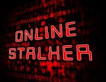 Online Stalker Evil Faceless Bully 3d Illustration royalty free illustration