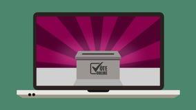 Online stemmend in referendum of verkiezing vector illustratie
