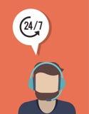 online steun of call centre verwant pictogrammenbeeld royalty-vrije illustratie