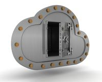 Online storage in the cloud Stock Photos