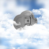 Online storage in the clouds. 3D render of a concept of online storage in the clouds Stock Image