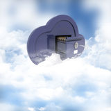 Online storage in the clouds. 3D render of a concept of online storage in the clouds Stock Photos