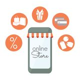 Online store banner Stock Image