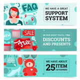 Online Store Banners Set Stock Photos