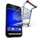 Online store. 3D illustration of an online shopping concept Stock Image