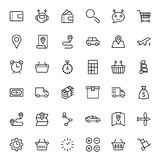 Online store flat icon. Set. Single high quality outline symbol of info for web design or mobile app. Thin line signs for design logo, visit card, etc. Outline Stock Photography
