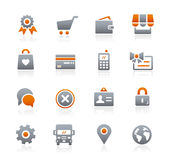 Online Store Icons -- Graphite Series Stock Images