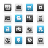 Online Store Icons, Matte Series Stock Image