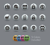 Online Store Icons // Pearly Series Stock Photography