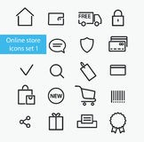 Online store icons Stock Photography