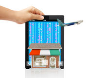 Online store. From a tablet Stock Images