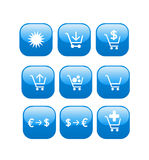 Online store web shop icons Stock Image