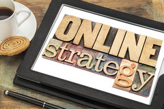 Online strategy on a tablet Royalty Free Stock Photography