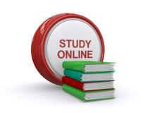 Online studieconcept Stock Afbeelding