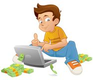 Online succes Royalty-vrije Stock Afbeelding