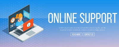 Online support banner Stock Image