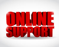 Online support 3d text illustration design Stock Photography
