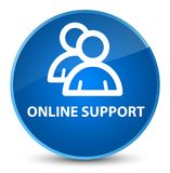 Online support (group icon) elegant blue round button. Online support (group icon) isolated on elegant blue round button abstract illustration Stock Images