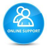 Online support (group icon) elegant cyan blue round button Stock Photos
